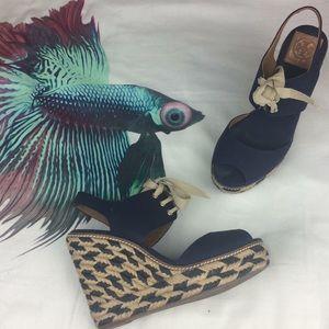 Tory Burch / Linley Espardille Wedge Sandals
